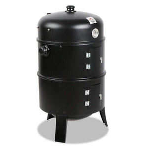 Grillz 3-in-1 Charcoal BBQ Smoker - Black Kings Warehouse