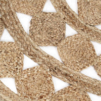 Handmade Rug Braided Jute 120 cm Kings Warehouse