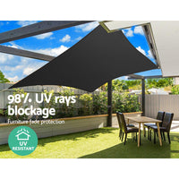 Instahut 280gsm 5x7m Sun Shade Sail Canopy Rectangle Shading Kings Warehouse