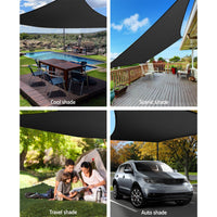 Instahut 280gsm 6x7m Sun Shade Sail Canopy Rectangle Shading Kings Warehouse
