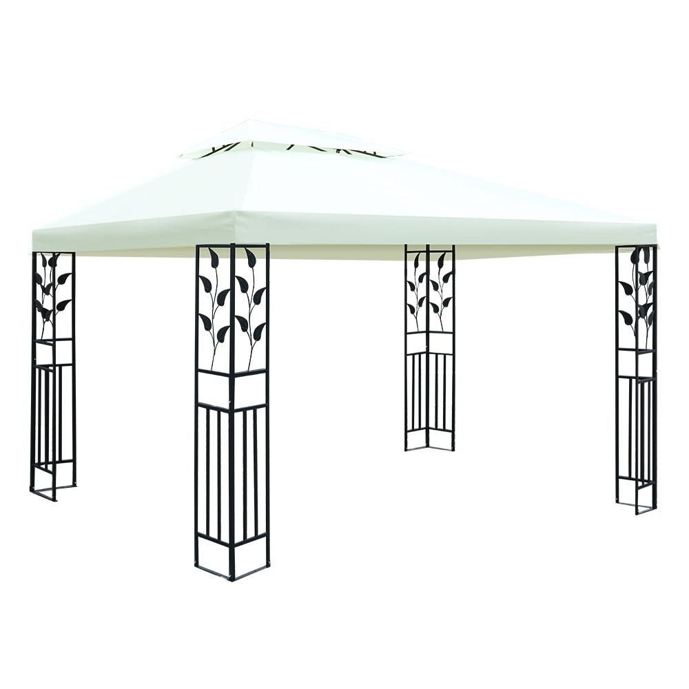 Instahut Gazebo 4x3m Marquee Outdoor Party Wedding Gazebos Tent Iron Art Shading Kings Warehouse