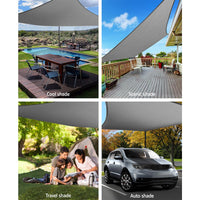 Instahut Sun Shade Sail Cloth Shadecloth Outdoor Canopy Rectangle 280gsm 6x8m Shading Kings Warehouse