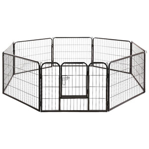 i.Pet 8 Panel Pet Dog Playpen Puppy Exercise Cage Enclosure Fence Play Pen 80x60cm Kings Warehouse