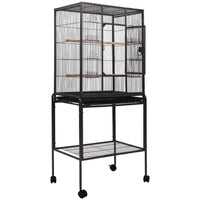 i.Pet Bird Cage Pet Cages Aviary 144CM Large Travel Stand Budgie Parrot Toys Bird Kings Warehouse