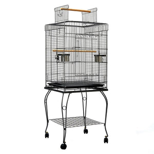 i.Pet Large Bird Cage with Perch - Black Bird Kings Warehouse