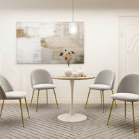 Jana White Mid-Century Design Round Dining Table Bar Stools & Chairs Kings Warehouse