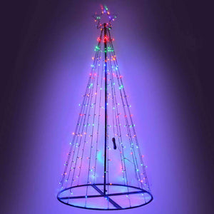 Jingle Jollys 3M LED Christmas Tree Multi Colour Kings Warehouse