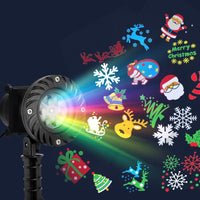 Jingle Jollys Pattern LED Laser Landscape Projector Light Lamp Christmas Party