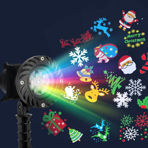 Jingle Jollys Pattern LED Laser Landscape Projector Light Lamp Christmas Party Kings Warehouse