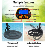 LCD Screen Metal Detector with Headphones - Yellow Kings Warehouse