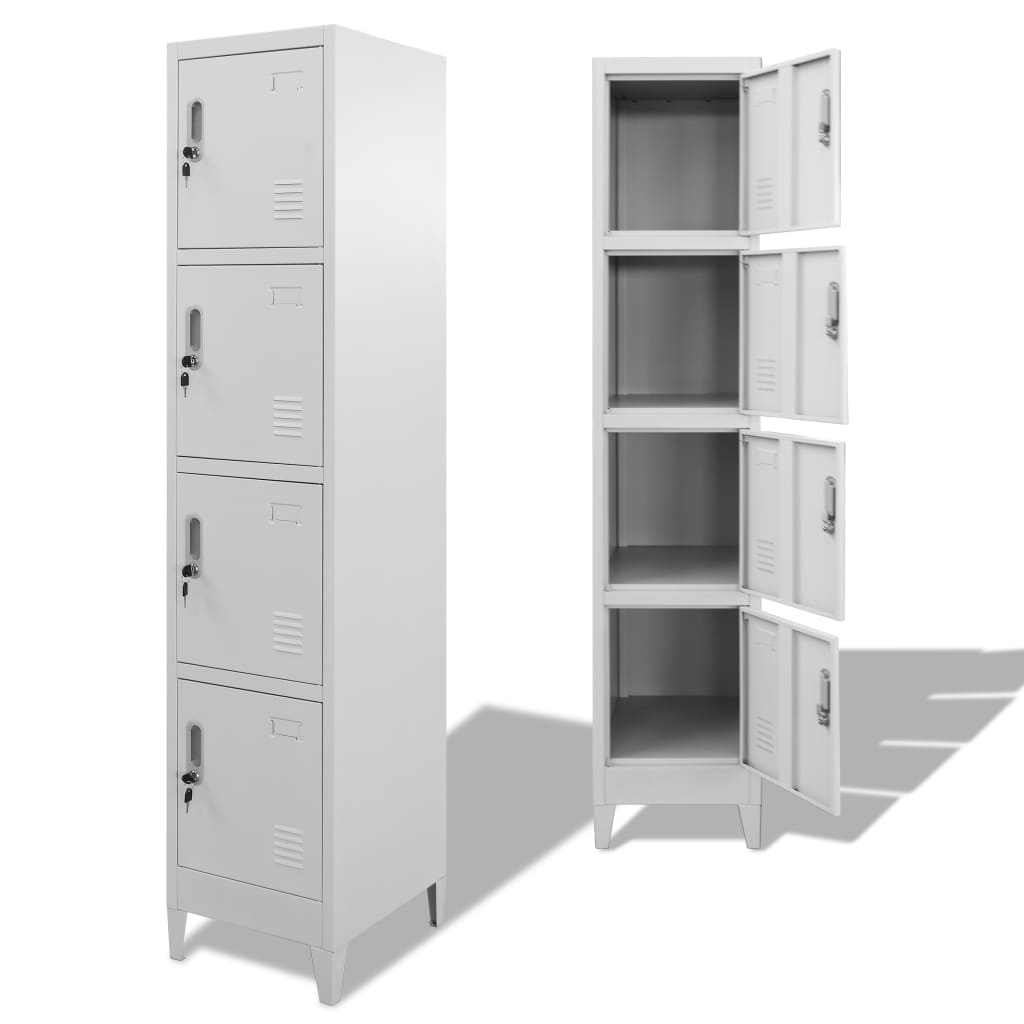 Locker Cabinet with 4 Compartments 38x45x180 cm Kings Warehouse