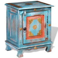 Nightstand Solid Mango Wood Blue FALSE Kings Warehouse