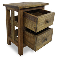 Nightstand Solid Reclaimed Wood 40x30x51 cm FALSE Kings Warehouse