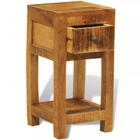 Nightstand with 1 Drawer Solid Mango Wood FALSE Kings Warehouse