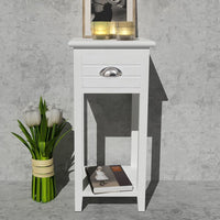 Nightstand with 1 Drawer White FALSE Kings Warehouse