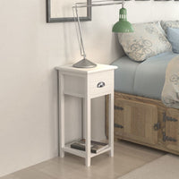 Nightstand with 1 Drawer White FALSE Kings Warehouse Default Title