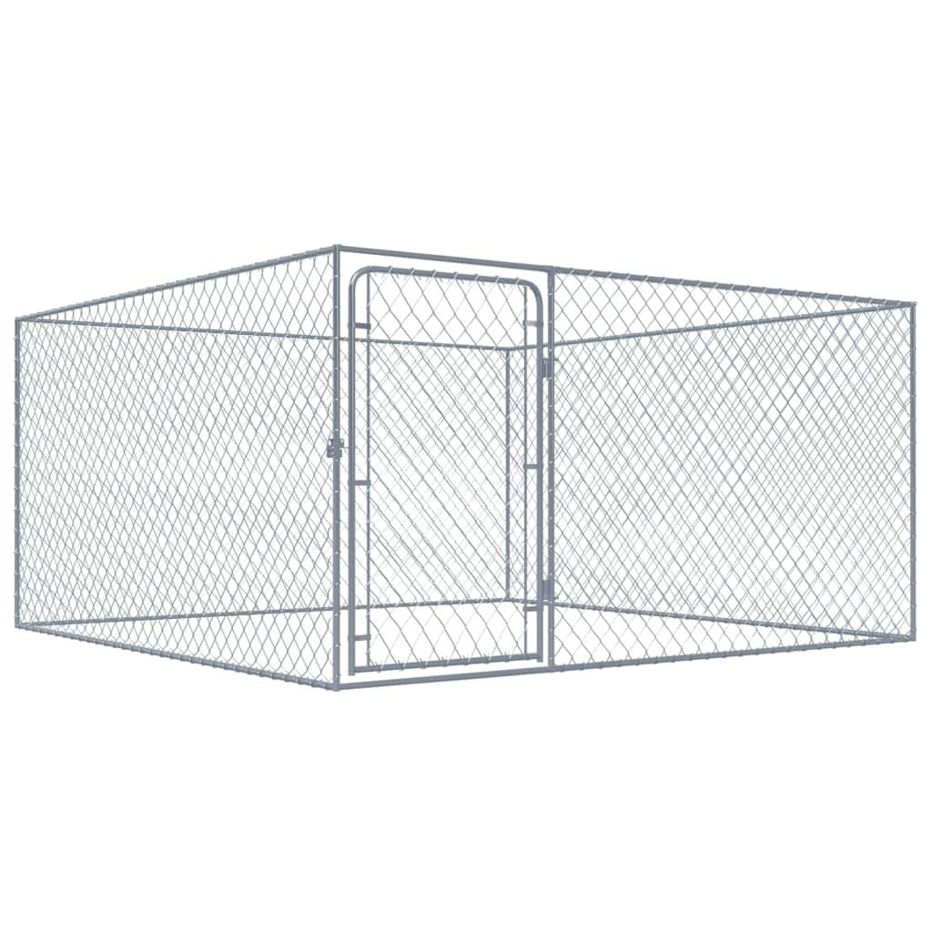 Outdoor Dog Kennel Galvanised Steel 2x2x1.85 m Kings Warehouse