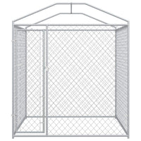 Outdoor Dog Kennel with Canopy Top 2x2x2.1 m Kings Warehouse