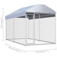 Outdoor Dog Kennel with Canopy Top 382x192x235 cm Kings Warehouse