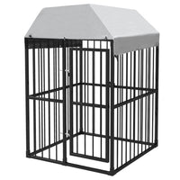 Outdoor Dog Kennel with Roof 1,2x1,2x1,9 m Kings Warehouse
