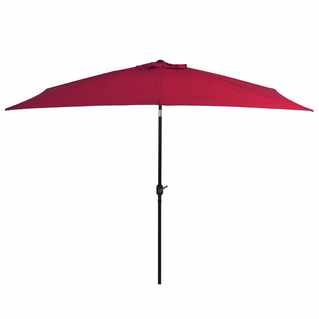 Outdoor Parasol with Metal Pole 300x200 cm Bordeaux Red Kings Warehouse