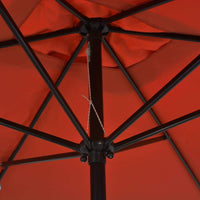 Outdoor Parasol with Metal Pole 300x200 cm Terracotta Kings Warehouse