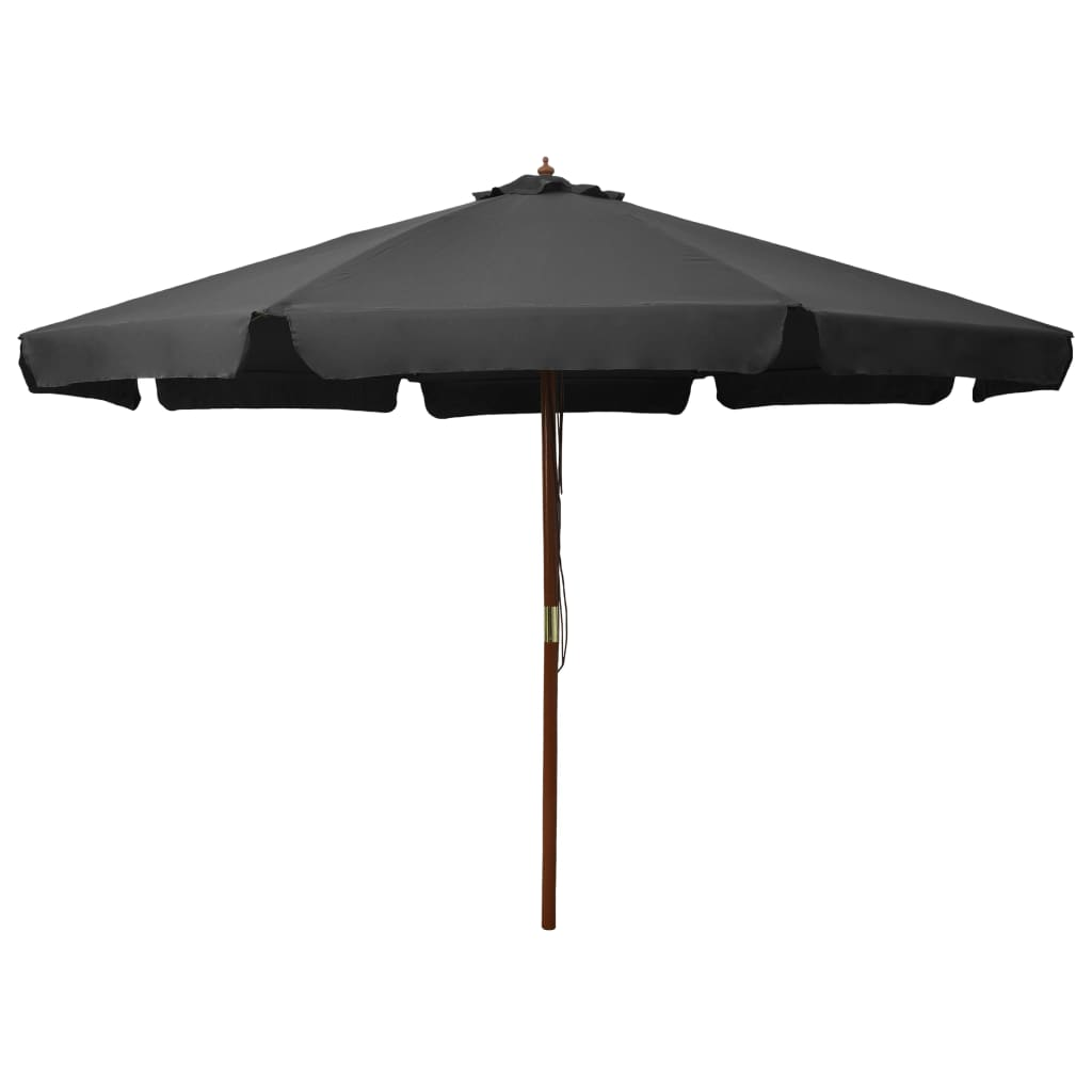 Outdoor Parasol with Wooden Pole 330 cm Anthracite Kings Warehouse