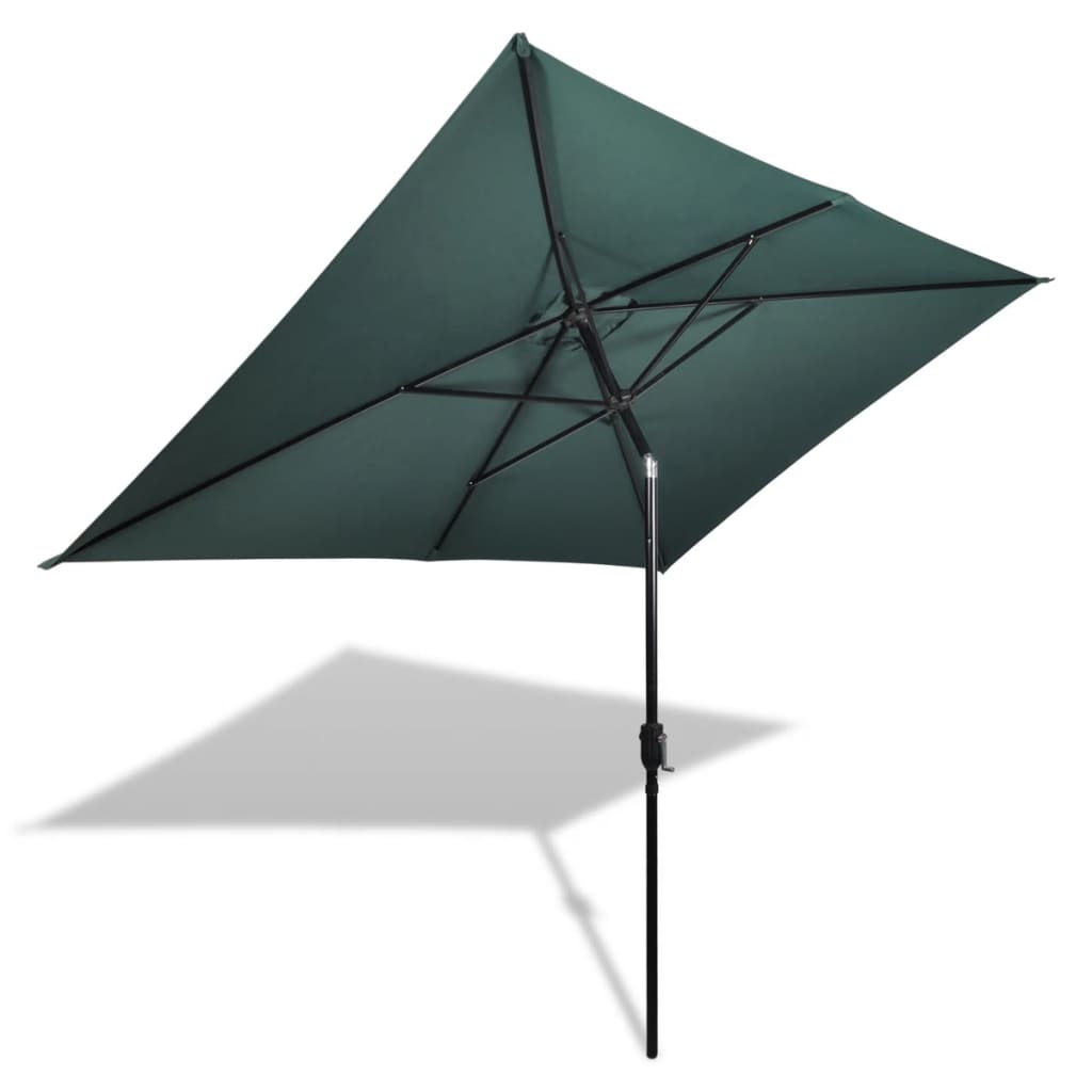 Parasol 200 x 300 cm Green Rectangular Kings Warehouse
