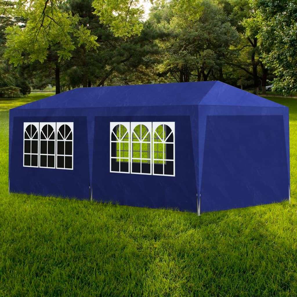 Party Tent 3x6 m Blue Kings Warehouse