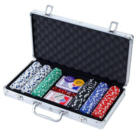 Poker Chip Set 300PC Chips TEXAS HOLD'EM Casino Gambling Dice Cards