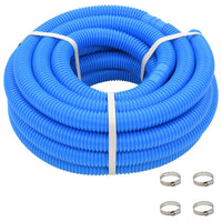 Pool Hose with Clamps Blue 38 mm12 m Kings Warehouse