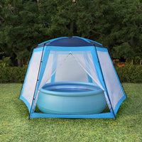 Pool Tent Fabric 590x520x250 cm Blue Kings Warehouse