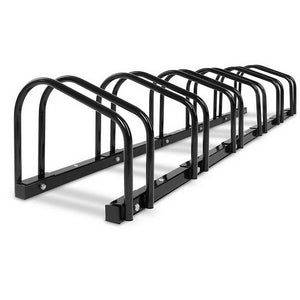 Portable Bike 6 Parking Rack Bicycle Instant Storage Stand - Black Bikes & Accessories Kings Warehouse