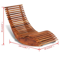 Rocking Sun Lounger Acacia Wood Kings Warehouse