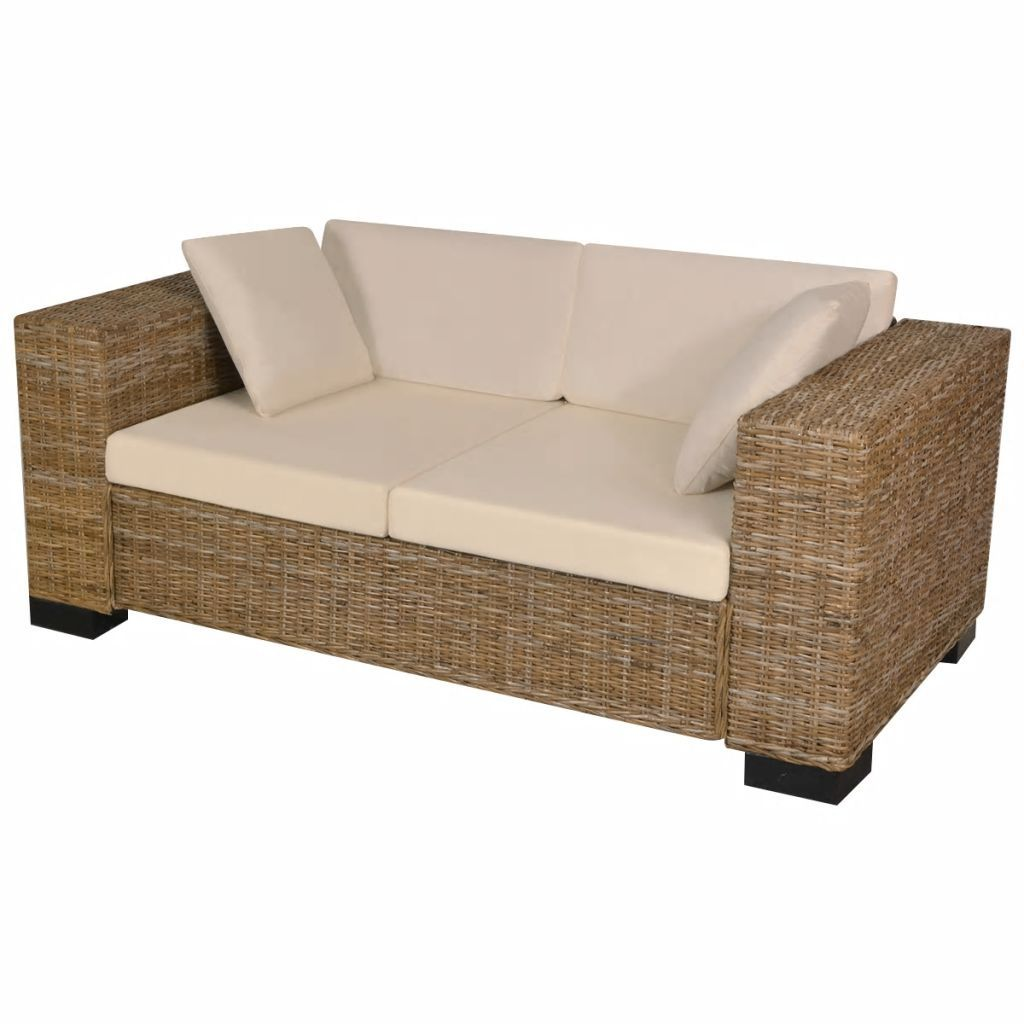 Seven Piece 2-Seater Sofa Set Real Rattan Kings Warehouse