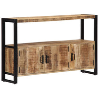 Side Cabinet 120x30x75 cm Solid Mango Wood Kings Warehouse