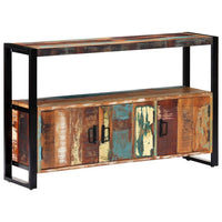 Sideboard 120x30x75 cm Solid Reclaimed Wood Kings Warehouse