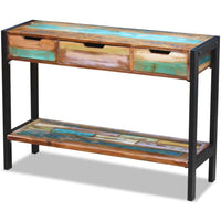 Sideboard 3 Drawers Solid Reclaimed Wood