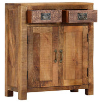 Sideboard 65x30x75 cm Solid Rough Mango Wood Kings Warehouse