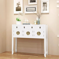 Sideboard Chinese Style Solid Wood White Kings Warehouse