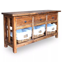 Sideboard Solid Reclaimed Wood 100x30x50 cm Kings Warehouse