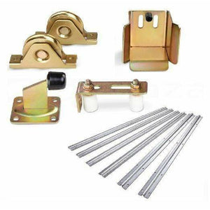 Sliding Gate Hardware Accessories Kit - 6m Track, Wheels, Stopper, Roller Guide Kings Warehouse