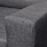 Sofa 2-Seater Fabric Dark Grey Kings Warehouse