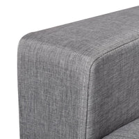 Sofa 2-Seater Fabric Light Grey Kings Warehouse
