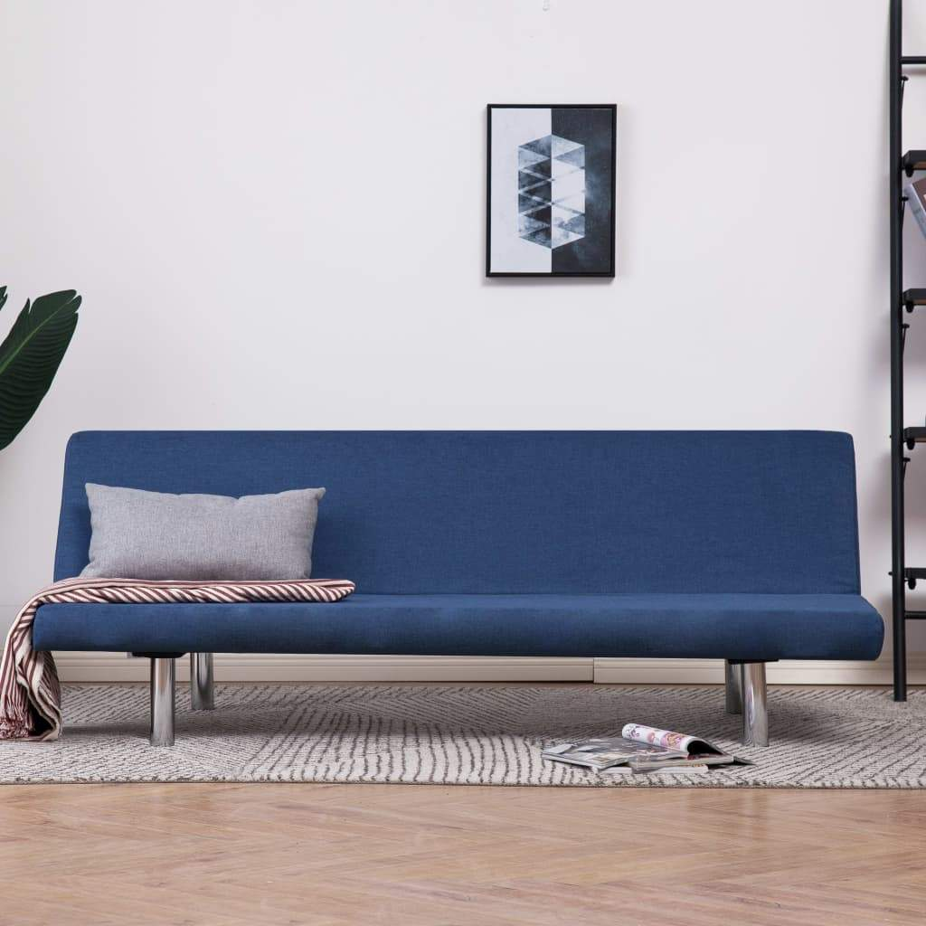 Sofa Bed Blue Polyester Kings Warehouse