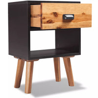 Solid Acacia Wood Bedside Cabinet 40x30x58 cm FALSE Kings Warehouse