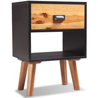 Solid Acacia Wood Bedside Cabinet 40x30x58 cm FALSE Kings Warehouse Default Title