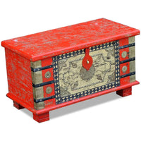 Storage Chest Red Mango Wood 80x40x45 cm Kings Warehouse