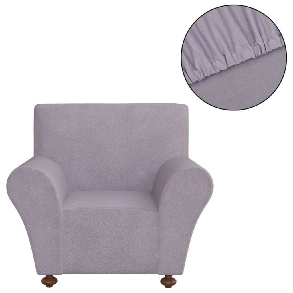 Stretch Couch Slipcover Grey Polyester Jersey Kings Warehouse