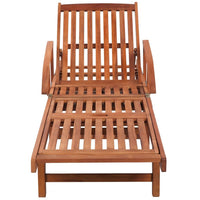 Sun Lounger with Cushion Solid Acacia Wood Kings Warehouse